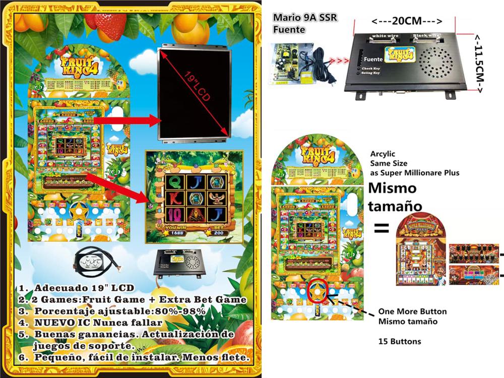 Fruit King 4 Mario Video Slot 2 In 1